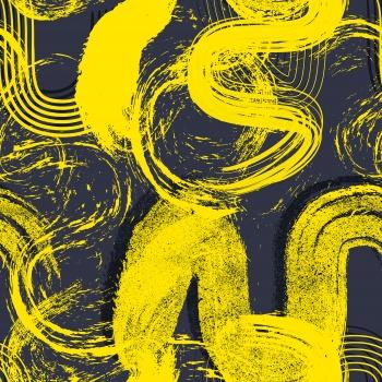 Yellow Brush Art