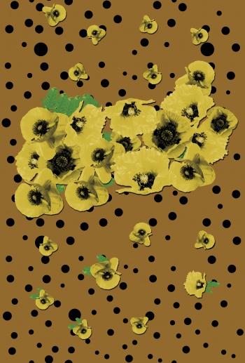 Yellow poppies and polkadots