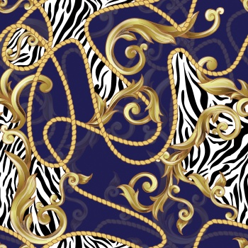 Zebra Print With Baroque Element